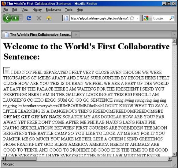 The world's longest sentence.