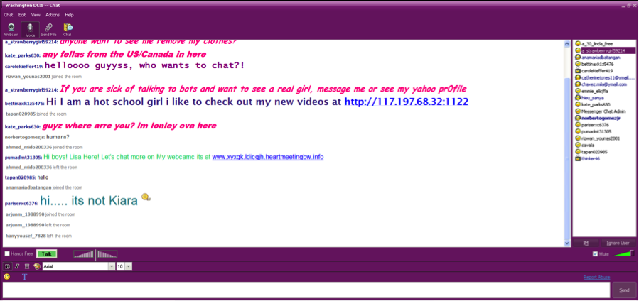 Live chat room avenue