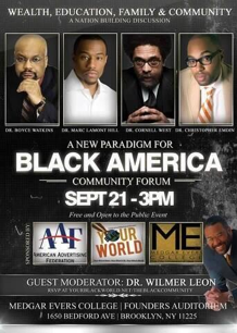 "Figure 3. Flyer for a ""Black America"" panel that doesn't feature a black women. Source: Twitter."