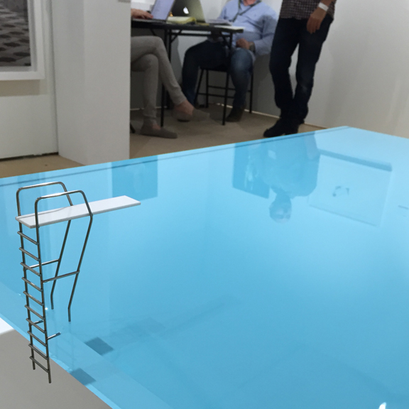 Pool Table by Freshwest Design at Osme Gallery, Vienna at Scope. #nodiving #headfirst