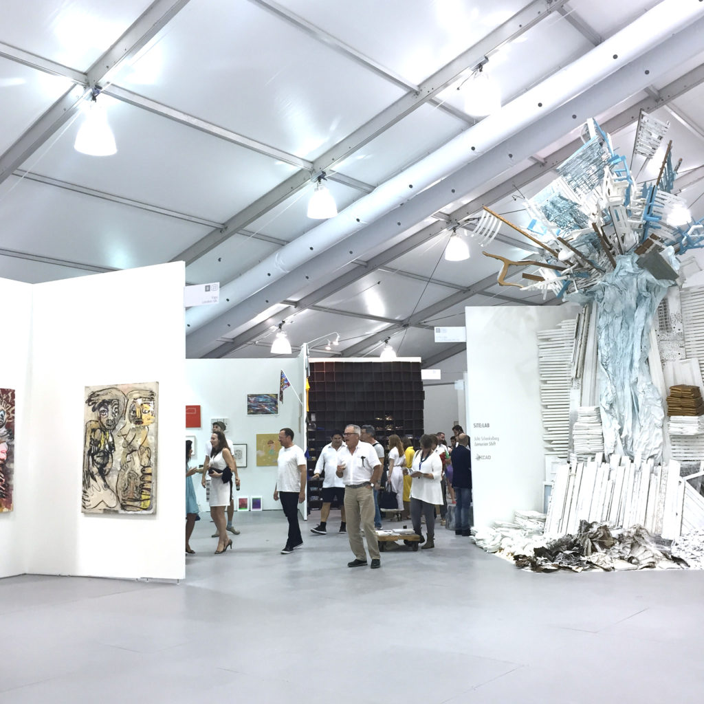 Untitled Art Fair on opening night. Making an effort to be right for you.