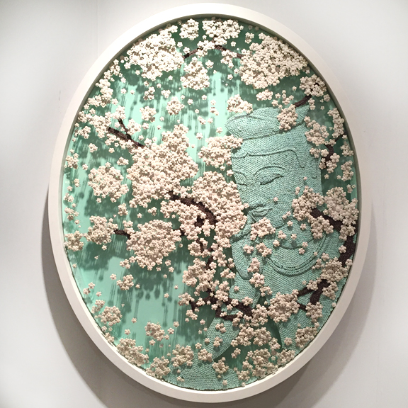 Ran Hwang for Kang Contemporary at Art Miami. Making pictures out of buttons. Beautiful, but leaves you feeling empty.