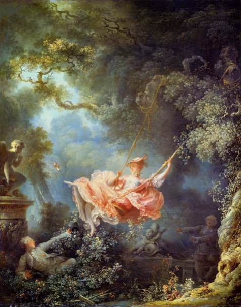 Jean-Honoré Fragonard, The Swing, circa 1767.