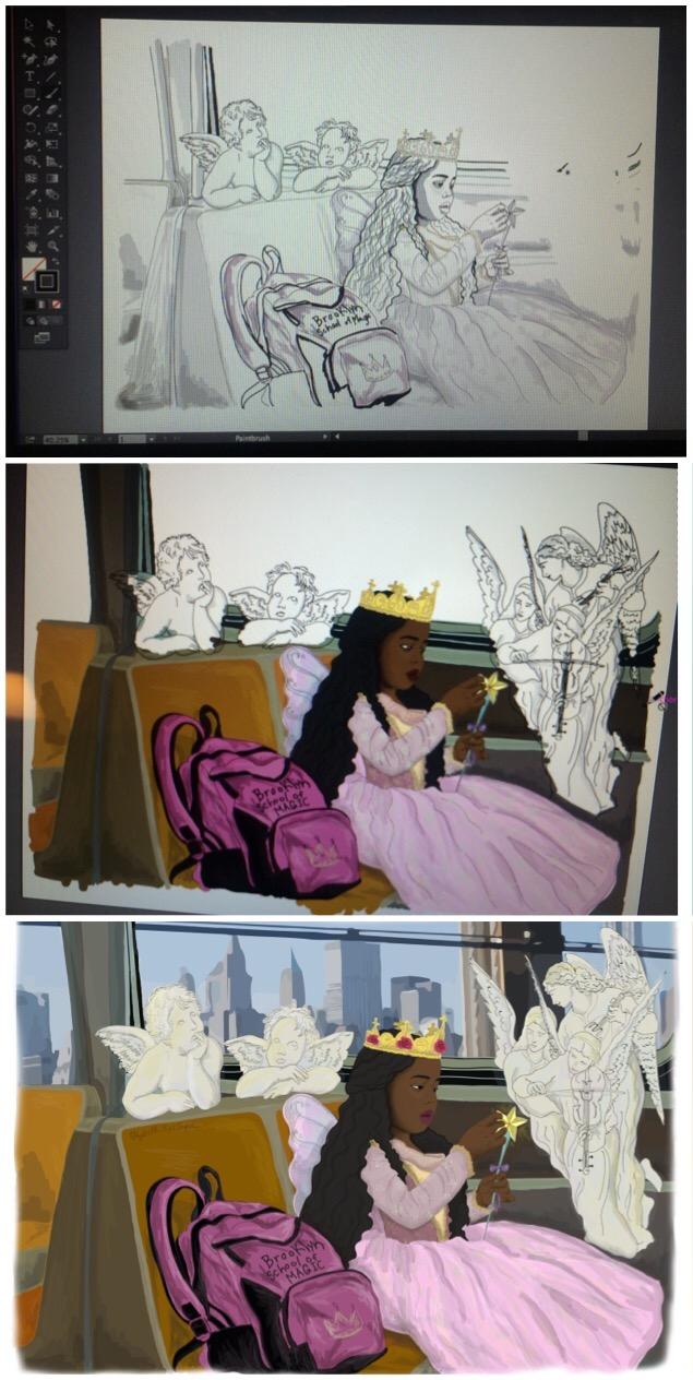 Brooklyn School of Magic Work in Progress by Elizabeth Montague