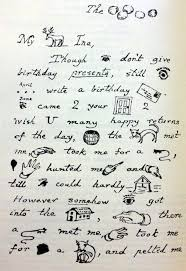 A letter from Lewis Carroll containing rebuses. Courtesy of kottke.org