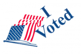 A screenshot of the I voted art