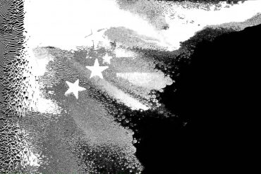 Distorted National Flags, Black and White